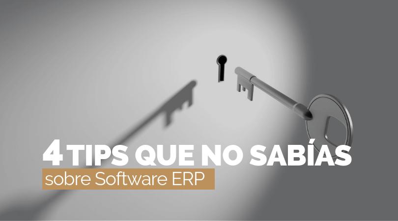 4 cosas que no sabías sobre un Software ERP